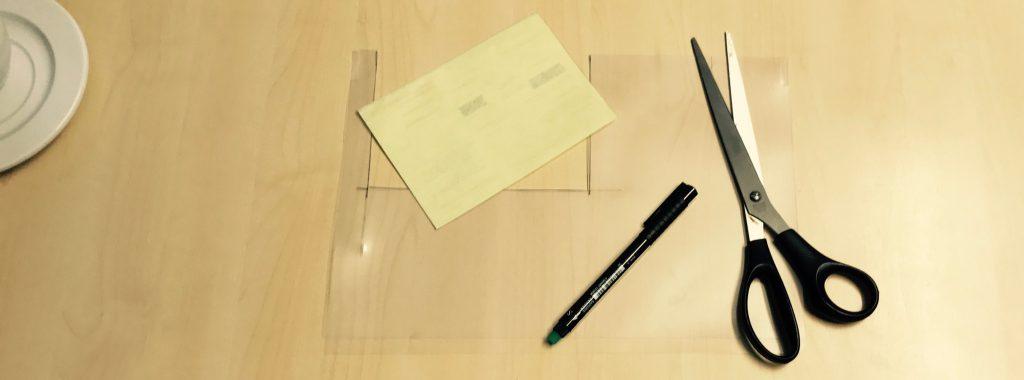 Zugeschnittene Klarsichthülle für AUs oder dünnes Papier zu scannen